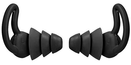 SQUATCH® | Bouchons d'Oreille pour un sommeil parfait | Réduction de bruit 35 dB | Ergonomique et Agréable à porter | Parfaite étanchéité à l'air | Lavable et réutilisable | 1 Paire couleur Noir