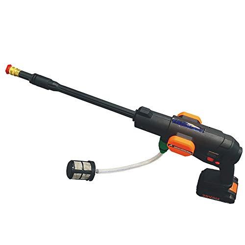 JL-Q Tragbarer, selbstansaugender Autowaschpistole mit Lithiumbatterie - wiederaufladbarer Hochdruckreiniger - für Autowäsche, Gartenbewässerung, Yacht-, Fahrrad- und Hausreinigung