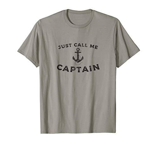 Call Me Captain, Boat Pontoon Sailor Anchor Graphic T-Shirt