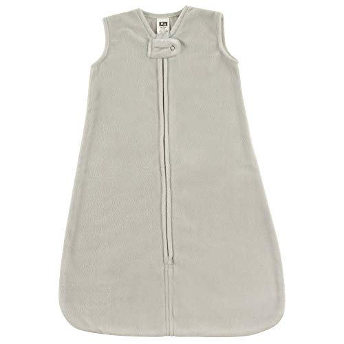 Hudson Baby Safe Sleep Fleece Wearable Sleeping Bag, Gray, 12-18 Months