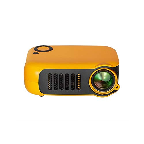 Proyector, mini proyector de video LED portátil con pantalla de proyección, Full HD 1080p, pantalla de 800 lúmenes y 60 '', proyector de cine en casa compatible con TV Box / PC / PS4 / HDMI / VGA / TF