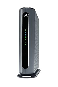Motorola MG7700 Modem WiFi Router Combo with Power Boost | Approved by Comcast Xfinity Cox and Spectrum | for Cable Plans Up to 800 Mbps | DOCSIS 3.0 + Gigabit Router