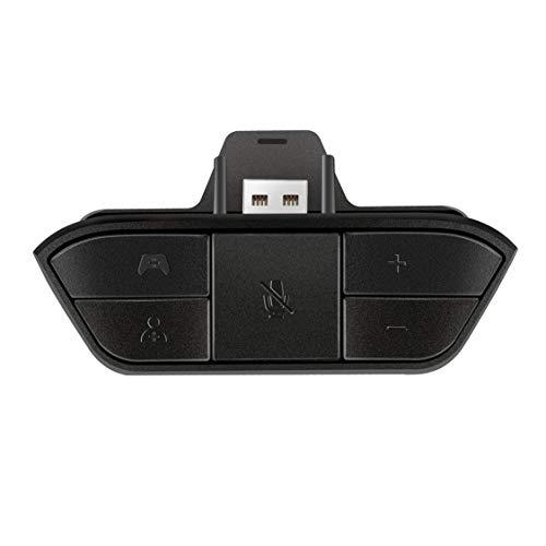 Dynamovolition Adaptador de Auriculares estéreo Negro Adaptador de Audio para Auriculares Convertidor de Auriculares para Controlador inalámbrico de Juegos Microsoft Xbox One