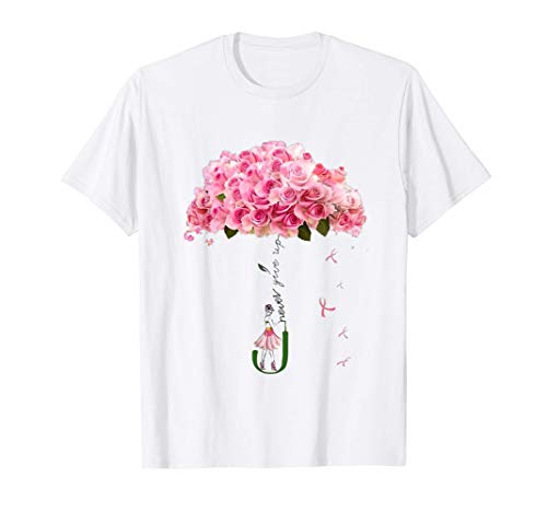 pink flowers ribbon Breast cancer Awareness gift women Camiseta
