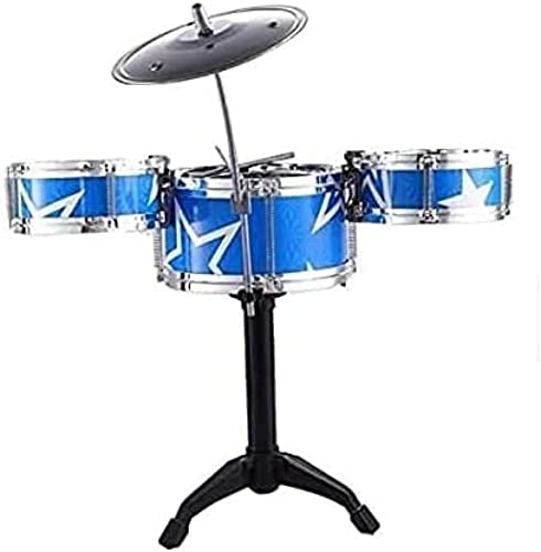 Jalshree Mini Jazz Drum Instruments Set Kit Musical Toy with High Straight PVC Material Drumhead for Kids Random Color