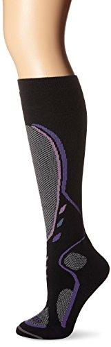 Lorpen Damen T3 Ski Midweight Socken, Damen, schwarz, Small