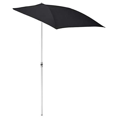 IKEA FLISÖ Balkon Sonnenschirm schwarzer Sonnenschirm mit Bein 160x100cm Höhe 150-230cm