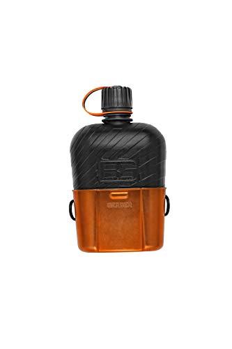 Gerber Bear Grylls Canteen, Borraccia con Gavetta Unisex – Adulto, Arancione, 1 Litro