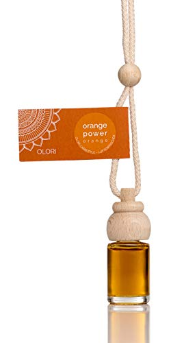 Olori Auto Duft - Orange - Orange Power - 4 x Duftspender für Auto und Wohnung - Auto Lufterfrischer