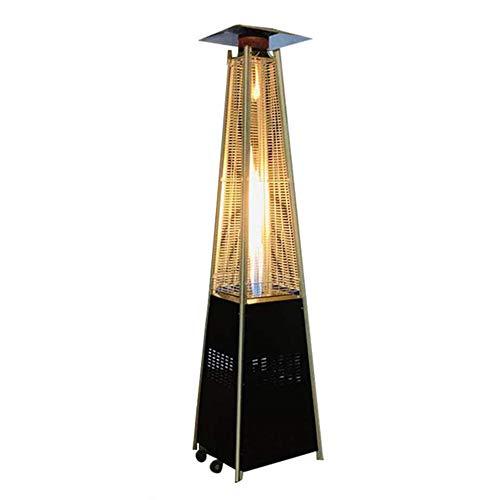 ZCZ Pyramid Heizpilz, 13000W Außen verflüssigten Gasheizung mit Rollen Verstellbare Freistehende Terrasse Heizung für Restaurants Bars Villa Höfe