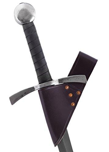 Battle-Merchant Porte-Ceinture épée Simple en Cuir pour Lames jusqu'à 5,5 cm (Marron)