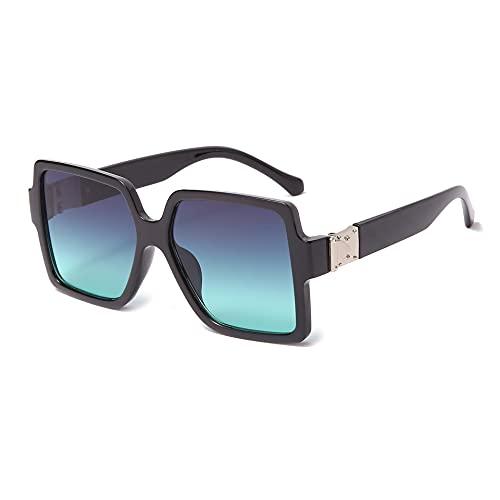 JINZUN Gafas de Sol cuadradas Gafas de Sol de Moda Tendencia Street Shooting Visera de Sol Gafas Anti-UV C2