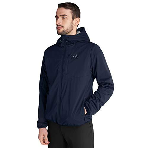 Calvin Klein Chaqueta de golf elástica ligera con capucha para hombre 2021 Ultron