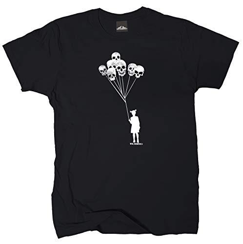 Wolkenbruch® T-Shirt Schenk Mir einen Luftballon, schwarz, Gr.XXL