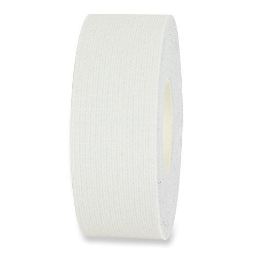 Kinesio Tape, elastische Bandage für Physiotherapie, Rehabilitation und Sportler, einzeln oder als 2-er und 5-er Set im Angebot (1 x Rolle, Weiss, Breite 25 mm)