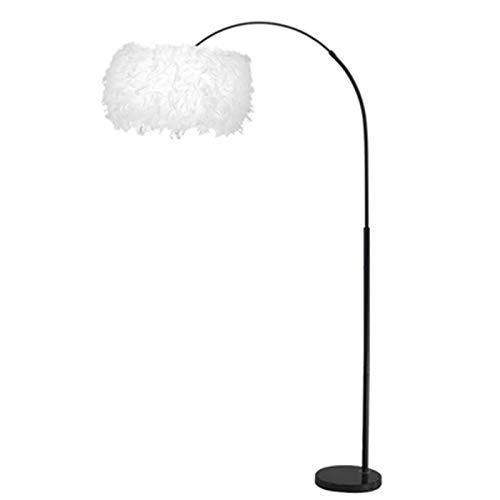 KOKOF Lámpara de pie Plumas lámpara lámpara de pie lámpara de Pesca lámpara de Pesca Sala de Estar Dormitorio Estudio Vertical de la Cama de la Cama lámpara de la lámpara Warm Light 12W