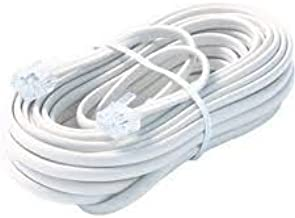 Bistras 25 Ft 4C Telephone Extension Cord Cable Line Wire, for Any Phone, Modem, Fax Machine, Answering Machine, Caller ID, White