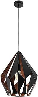 1X60W Pendant W/Matte Black Outer Finish & Copper Interior Finish