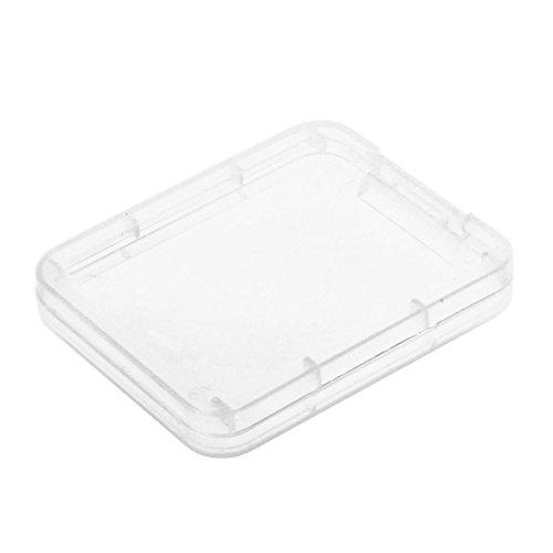 REFURBISHHOUSE 10pcs de Caja de plastico de Tarjetas de Memoria Caja de Tarjeta de SD SDHC XD MMC CF Caja de Almacenamiento Transparente