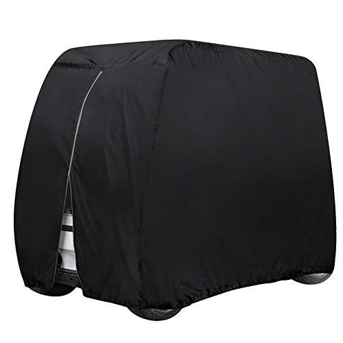 4 Passenger Golf Cart Cover, Waterproof Dustproof Sunproof Club Car Cover Storage for EZ Go Club Yamaha