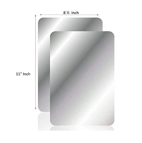 Q-BICS Flexible Mirror Sheets | Mirror Stickers 8 1/2