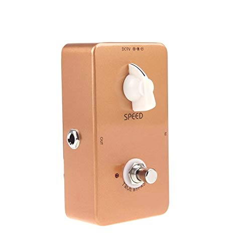 QiHaoHeji Reverb Pedal Guitar Vintage Phase Phaser Guitar Effect Pedal True Bypass (Color : Golden, Size : 12 x 7.1 x 5.8cm)