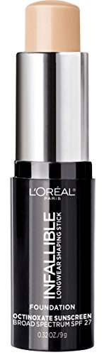 L'Oreal Paris Makeup Infallible Longwear Shaping Stick Foundation, 401 Ivory, 1 Tube,0.32 Ounce