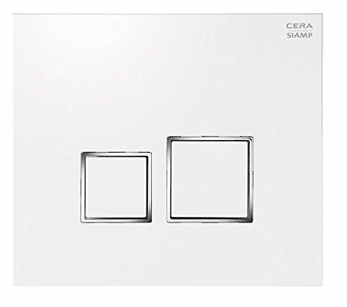Cera B1120117 Plastic Siamp Square Knob White Shine