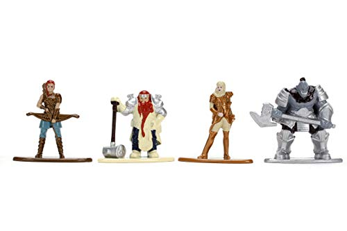 Jada Toys Dungeons & Dragons 1.65u0022u0022 Die-cast Metal Collectible Figures 4-Pack Starter Pack B, Toys for Kids and Adults (31961)
