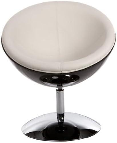 tienda hace compras y ventas Casa-Padrino Designer Drehsessel, negro-Hochglanz blanco Lounge Sessel - Moderner Moderner Moderner Stuhl  barato