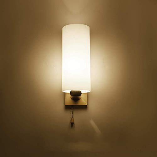 TTWUJIN Lámparas Novedosas, Lámpara de Pared Interior de Estilo Minimalista Nórdico Luces de Pasillo de Pasillo de Corredor con Pantalla de Vidrio para Iluminación Junto a la Cama de Dormitorio Adecu