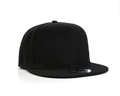 UNDERGROUND KULTURE Einfarbig Schwarze Fläche Snapback Baseball Kappe