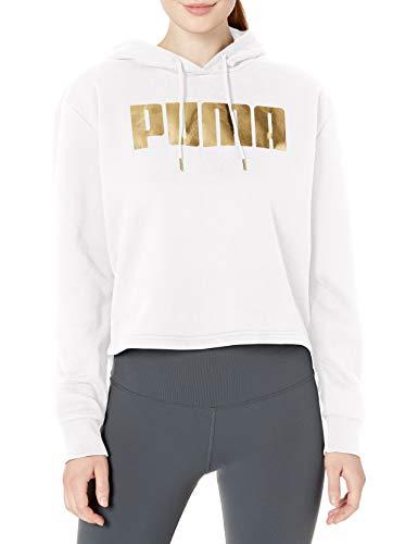PUMA - Felpa con cappuccio da donna - bianco - Medium
