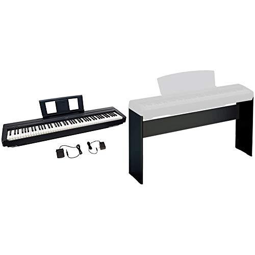 Yamaha P45, 88-Key Weighted Action Digital Piano (P45B) & L85 Keyboard Stand, Black