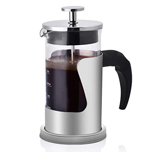 QHYY Stianless Kaffeemaschine Filter Kaffeekanne Multifunktionskaffeemaschine 600ml Teekanne