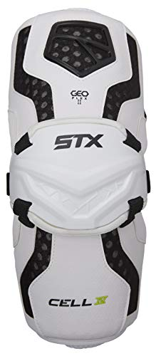 STX Lacrosse Cell 4 Arm Guards, White, Large