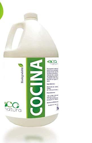 Econatura Detergente biodegradable con desinfectante para la cocina 4 litros, ultra concentrado rinde hasta 8 veces mas