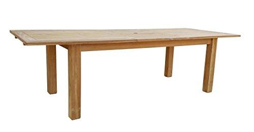 GRASEKAMP kwaliteit sinds 1972 teak tafel 200/260x100 cm uittrekbaar eettafel tuinmeubelen tuintafel houten tafel