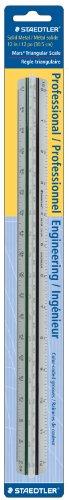 Staedtler 12-Inches Engineer Aluminum Triangular Scale (987M1834BK)