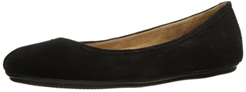 Naturalizer Women's Brittany Ballet Flat, Black Suede, 7.5 M US