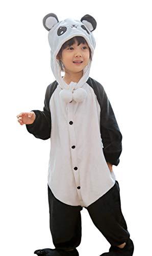 MARRYME Disfraz Pijama Oso Panda Pijama Animal Invierno Niño Niña Entero Ropa de Dormir Una Pieza para Halloween Cosplay 2 a 12 Años