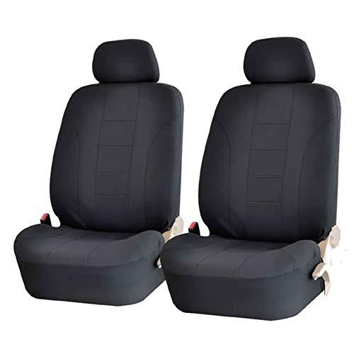Aoile Universele stoelbekleding voor auto, 8-delig, 4 stuks, zwart, 4-delig
