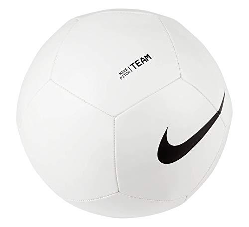 Nike Balón de fútbol Unisex, Color Blanco/Negro, 4