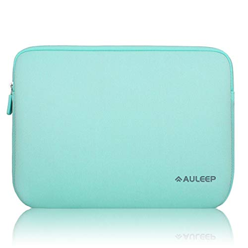 AULEEP Laptop Sleeves, Neoprene Notebook Computer Pocket Tablet Carrying sleeve/Water-Resistant compatible laptop sleeve for Acer/Asus/Dell/Lenovo/HP (11-12 inch, light green)