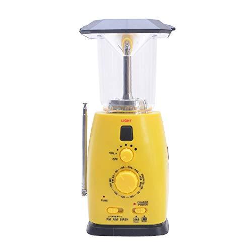 Walmeck- multifunctionele handslinger Solar noodlicht outdoor wandelen camping licht draagbaar licht radio outdoor gadget RD249