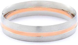 Breuning Platinum 600 & 18K Rose Gold Wedding Ring [BR9020]
