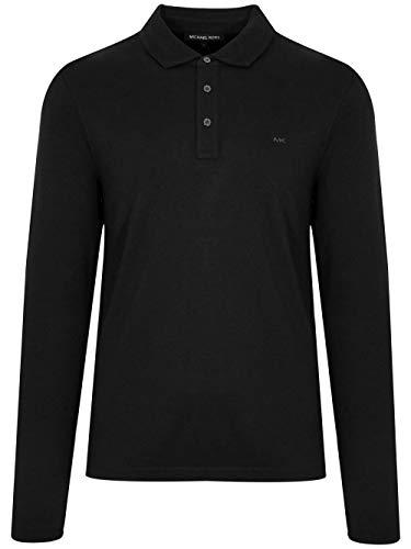 Polo de manga larga Michael Kors Sleek Logo en negro