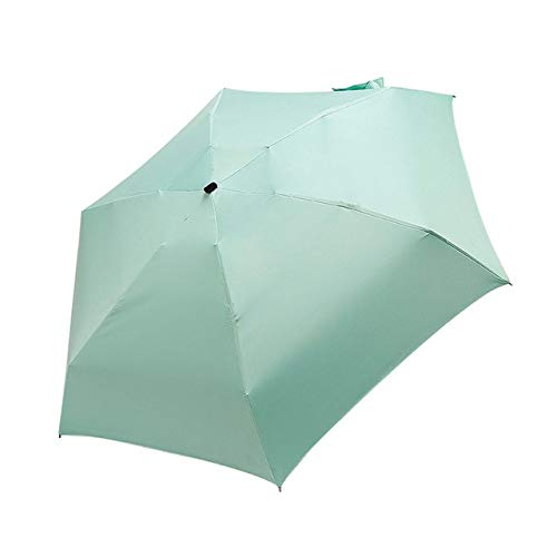 Mdsfe Paraplu Zonneregenscherm voor dames, platte lichte paraplu, inklapbaar, mini-paraplu, klein formaat, eenvoudig zonnescherm opbergen a29 Groen-A29