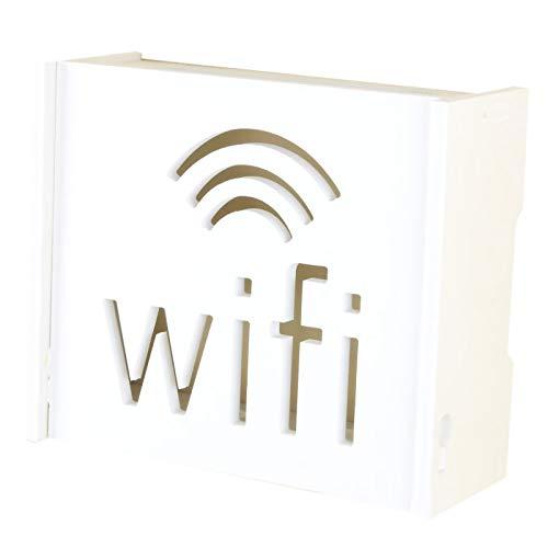 NCONCO Caja de almacenamiento de enrutador Wifi Organizador de montaje en pared para cable de almacenamiento Router Contenedor