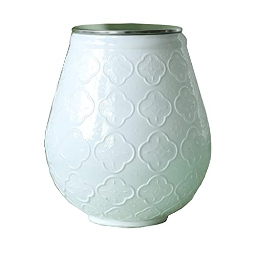 YHYH Botes Tarro De Cristal Blanco con Tapones De Metal O Tapones De Madera con Recipientes De Almacenamiento De Alimentos En Relieve Frascos (Color : Jar with Metal Lid)